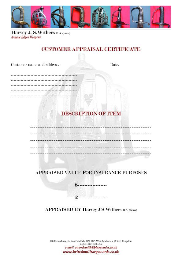 antique-sword-appraisal-certificate